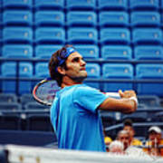 Roger Federer  Poster by Nishanth Gopinathan