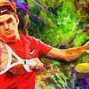 Roger Federer Poster by RochVanh