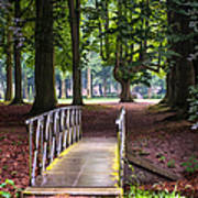 Romantic Bridge To Shadow Place. De Haar Castle Poster by Jenny Rainbow