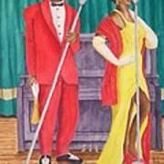Roosevelt And Lola Poster by Rhonda Leonard
