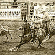 Roping Poster by Caitlyn  Grasso