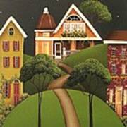 Rose Hill Lane Poster by Catherine Holman