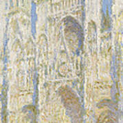 Rouen Cathedral West Facade Poster by Claude Monet