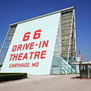 Route 66 Drive-in Theatre Poster by Frank Romeo