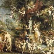 Rubens, Peter Paul 1577-1640. The Feast Poster by Everett
