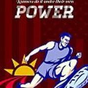 Runner Running Power Poster Poster by Aloysius Patrimonio
