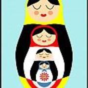 Russian Doll Matryoshka Poster by Patruschka Hetterschij