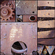Rust And Metal Abstract  Poster by Ann Powell