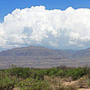 Sacramento Mountains Storm Clouds Poster by Jack Pumphrey