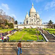 Sacre Coeur - Basilica Overlooking Paris Poster by Mark E Tisdale