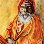 Sadhu Poster by Janet Pancho Gupta