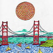 Sailing On San Francisco Bay Poster by Michael Friend