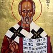 Saint Nicholas The Wonder Worker Poster by Joseph Malham