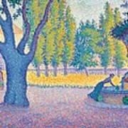 Saint-tropez Fontaine Des Lices Poster by Paul Signac