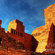 Salinas Pueblo Abo Mission Golden Light Poster by Bob Christopher
