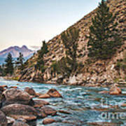 Salmon River In The Twilight Poster by Robert Bales