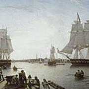 Salmon, Robert 1775-1845. Boston Poster by Everett