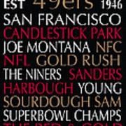 San Francisco 49ers Poster by Jaime Friedman