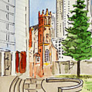 San Francisco - California Sketchbook Project Poster by Irina Sztukowski