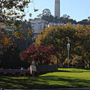 San Francisco Coit Tower At Levis Plaza 5d26217 Poster by Wingsdomain Art and Photography