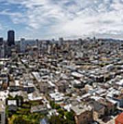 San Francisco Daytime Panoramic Poster by Adam Romanowicz