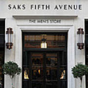 San Francisco Saks Fifth Avenue Store Doors - 5d20574 Poster by Wingsdomain Art and Photography