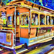 San Francisco Trams 1 Poster by Yury Malkov