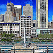 San Francisco Union Square 5d17938 Artwork Poster by Wingsdomain Art and Photography