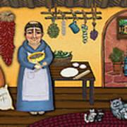 San Pascuals Kitchen 2 Poster by Victoria De Almeida