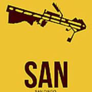 San San Diego Airport Poster 1 Poster by Naxart Studio