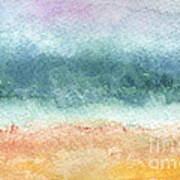 Sand And Sea Poster by Linda Woods
