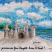 Sandcastle Poster by Catherine Saldana