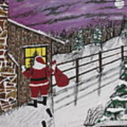 Santa Claus Is Watching Poster by Jeffrey Koss