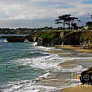 Santa Cruz Beach Poster by Carol Groenen
