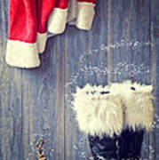 Santa's Boots Poster by Amanda And Christopher Elwell