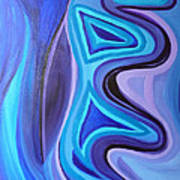 Sapphire Passion - Luminescent Light Poster by Daina White