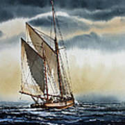 Schooner Poster by James Williamson