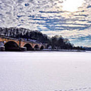 Schuylkill River - Frozen Poster by Bill Cannon
