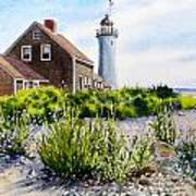 Scituate Light By Day Poster by Karol Wyckoff