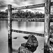 Scottish Loch With Fence Poster by John Farnan