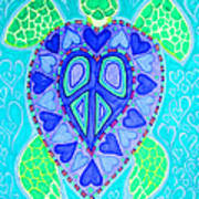 Sea Turtle Swim Poster by Nick Gustafson