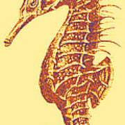 Seahorse - Right Facing Poster by Jane Schnetlage
