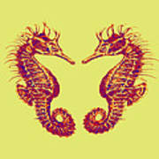 Seahorses In Love Poster by Jane Schnetlage