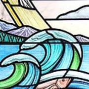 Seascape Poster by Gilroy Stained Glass