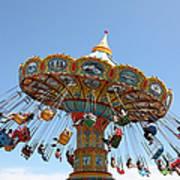 Seaswings At Santa Cruz Beach Boardwalk California 5d23905 Poster by Wingsdomain Art and Photography