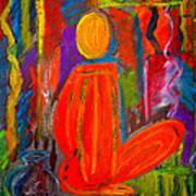 Seated Monk Poster by Nirdesha Munasinghe