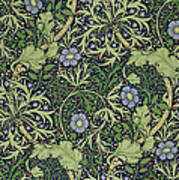 Seaweed Wallpaper Design Poster by William Morris