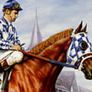 Secretariat At Churchill Poster by Thomas Allen Pauly