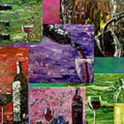 Sensual Wine  Poster by Mark Moore