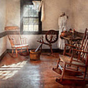 Sewing - Room - Grandma's Sewing Room Poster by Mike Savad